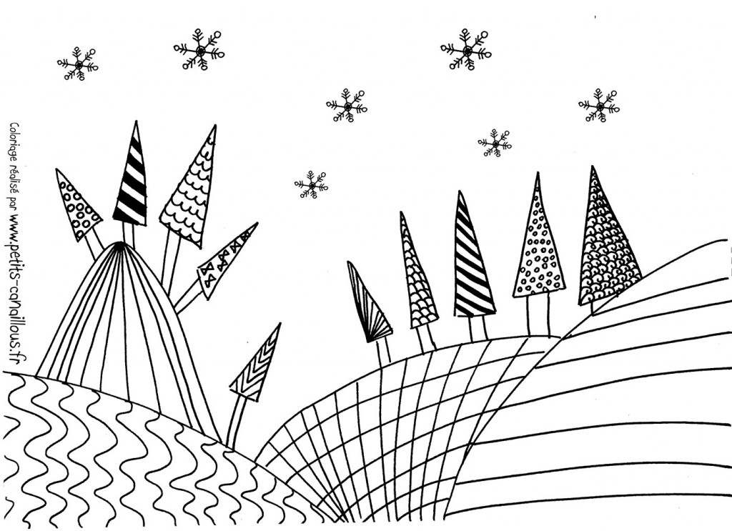 coloriages-noel-sapins