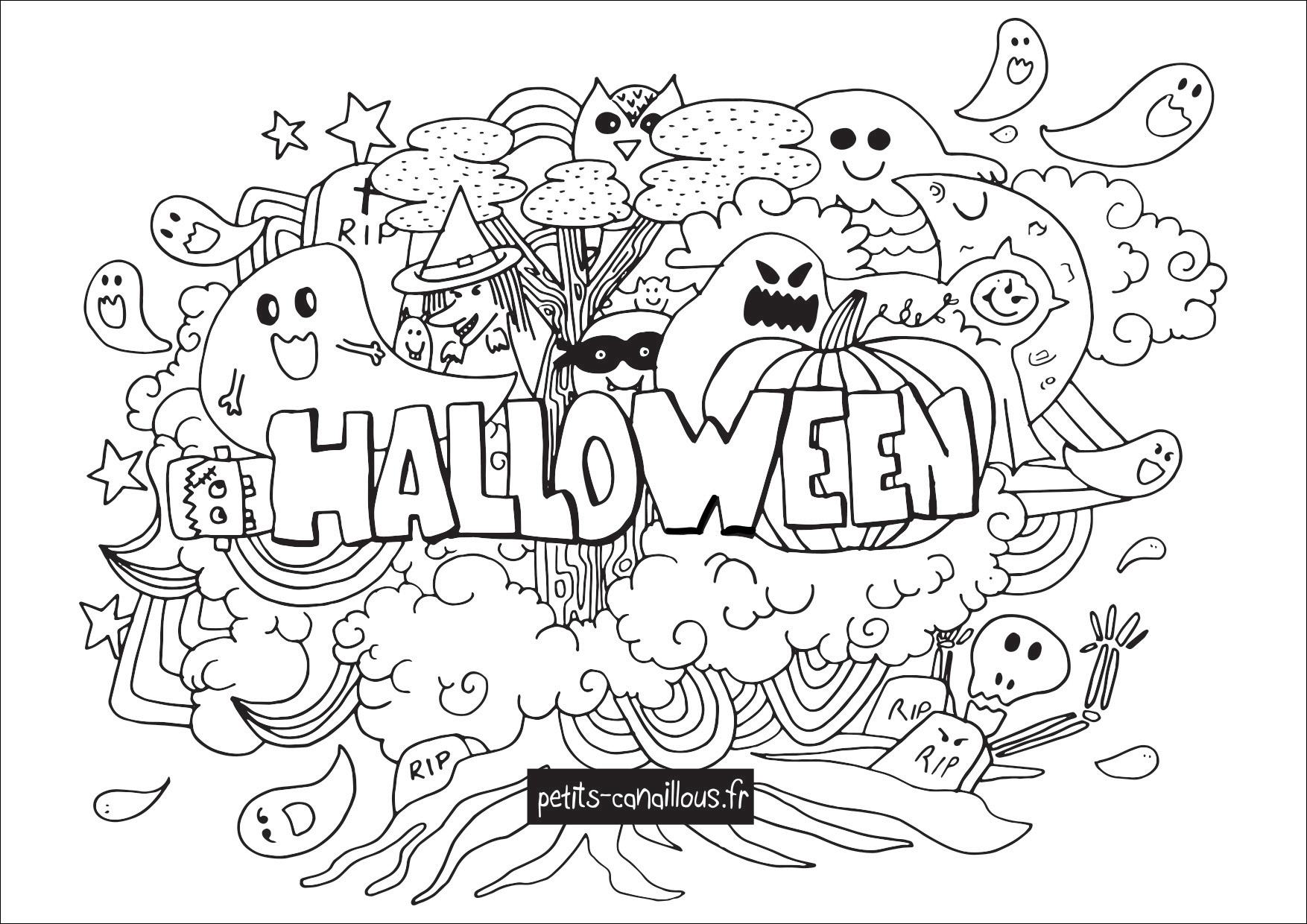 Coloriages d 39 halloween le blog de maxi mum - Dessin d alloween ...