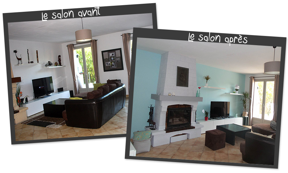 du bleu dans mon salon petits canaillous. Black Bedroom Furniture Sets. Home Design Ideas