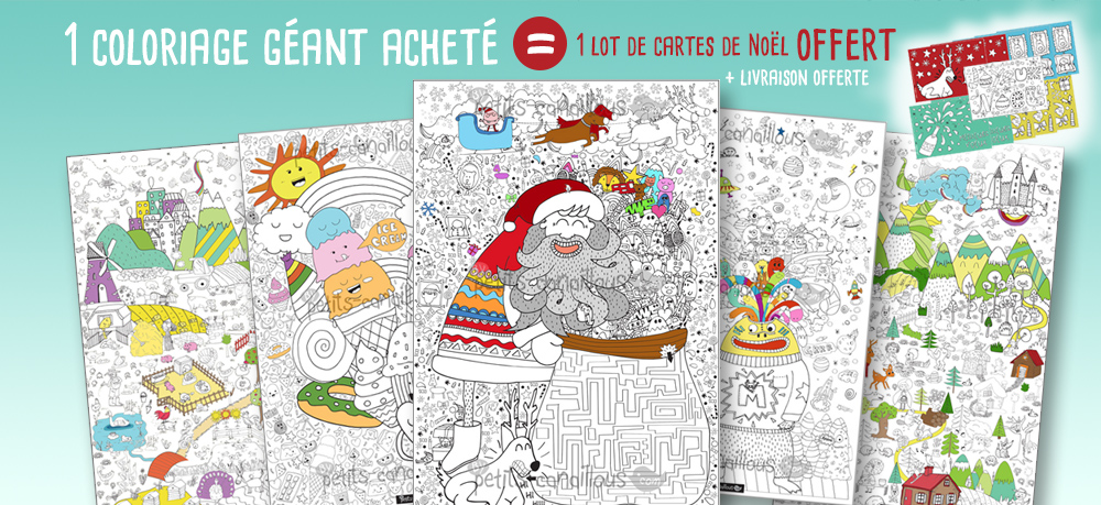 collection coloriage geant noel