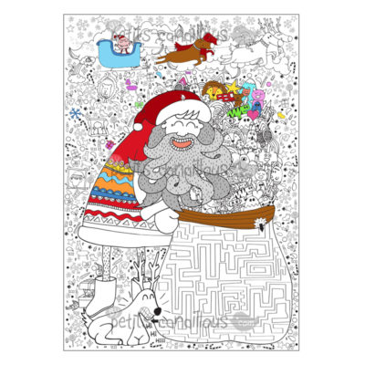 coloriage geant pere noel